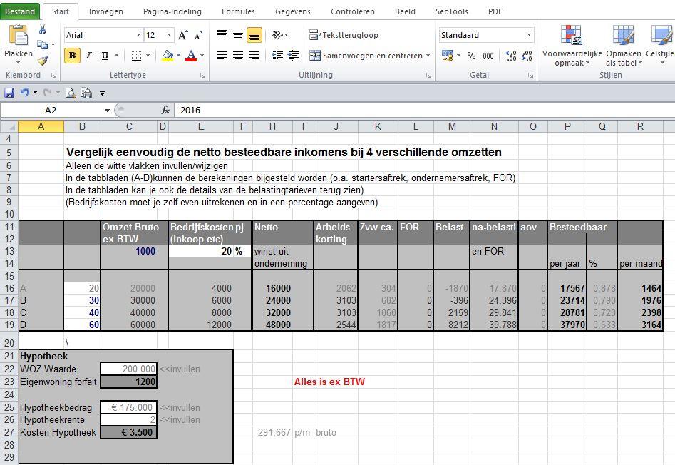ZZP-Freelance-Belasting-Berekenen